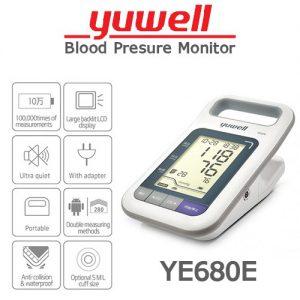 digital blood pressure monitor yuwell ye680e lcd black light 59d 300x300 - فشارسنج دیجیتال یوول YUWELL Digital barometer 680E