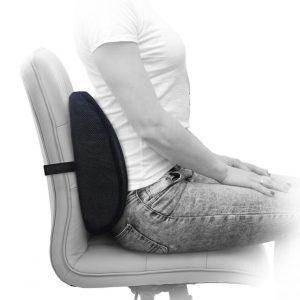 contour lumbar back cushion43028994129 300x300 - پشتی کمری مموری فوم محافظ ستون فقرات medifoam