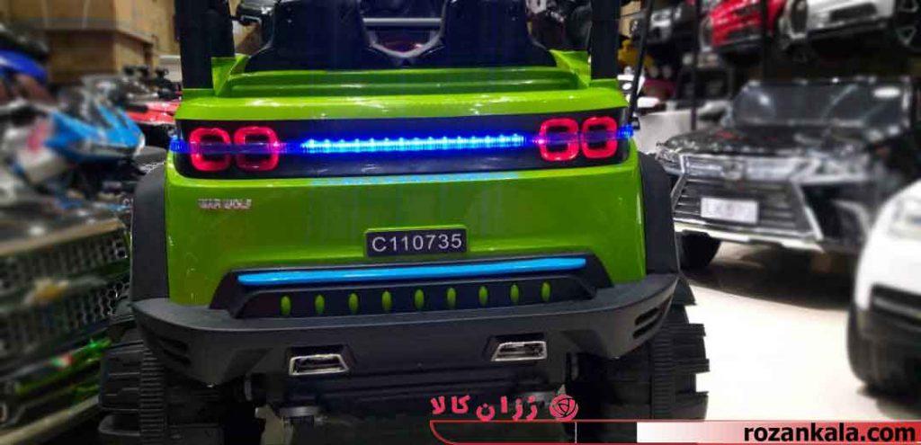 ماشین شارژی آفرود متالیک لاستیک ژله ای کد AZ5256