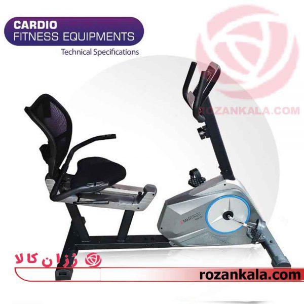 دوچرخه ثابت پشتی دار و نشسته ای ام اچ فیتنس مدل EMH FITNESS 6001R