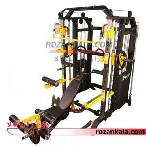 دستگاه بدنسازی همه کاره همراه اسمیت کراس و نیمکت حرفه ای HG 1700