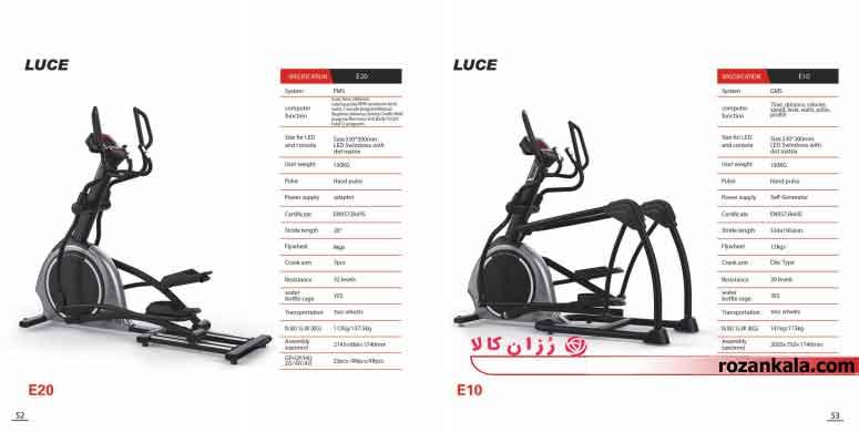 الپتیکال امریکایی GYMOST مدل LUCE E20
