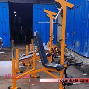 دستگاه بدنسازی 17 کاره پروفیل دو رنگ برند RK fitness